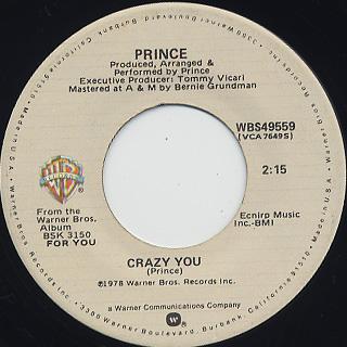 Prince / Crazy You c/w Uptown