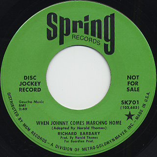Richard Barbary / When Johnny Comes Marching Home