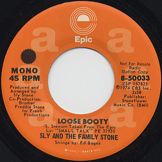 Sly & The Family Stone / Loose Booty back