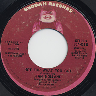 Stan Holland / Hot For What You Got