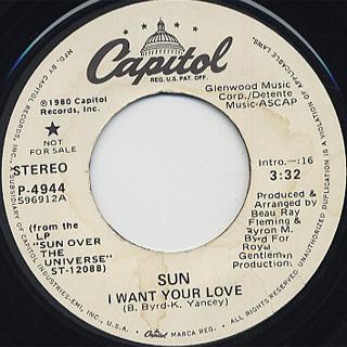 Sun / I Want Your Love