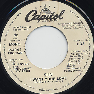 Sun / I Want Your Love back
