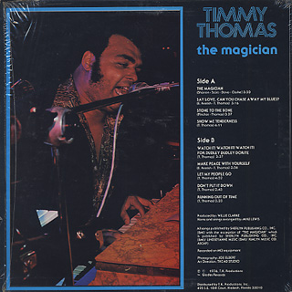 Timmy Thomas / The Magician back