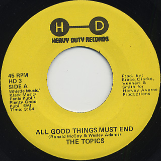 Topics / All Good Things Must End front