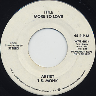 T.S. Monk / More To Love