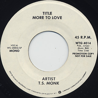 T.S. Monk / More To Love back