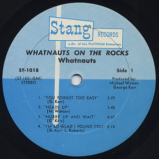 Whatnauts / On The Rock label
