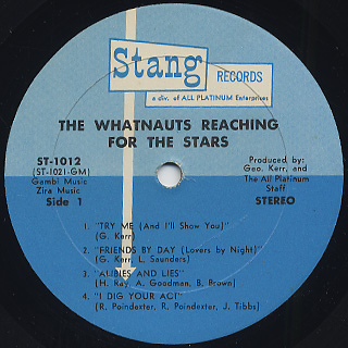 Whatnauts / Reaching For The Stars label