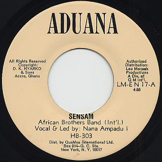 African Brothers Band / Sensam