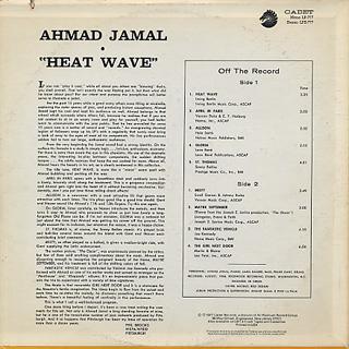 Ahmad Jamal / Heat Wave back