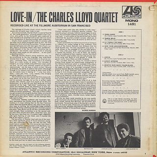 Charles Lloyd Quartet / Love-In back