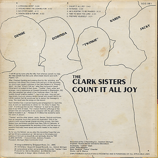 Clark Sisters / Count It All Joy back