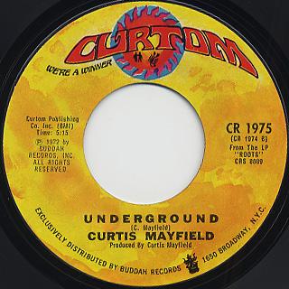 Curtis Mayfield / Freddie's Dead c/w Underground back