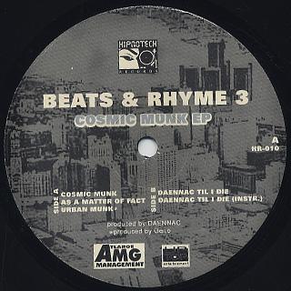 Daennac / Beats & Rhyme 3 Cosmic Munk EP