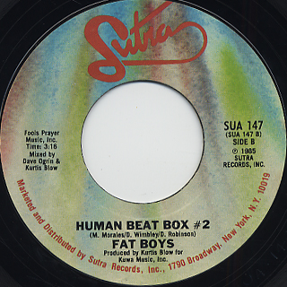 Fat Boys / Human Beat Box #2 front