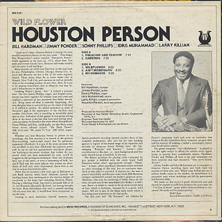 Houston Person / Wild Flower back