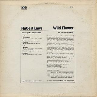 Hubert Laws / Wild Flower back