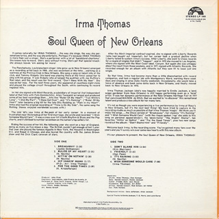 Irma Thomas / Soul Queen Of New Orleans back