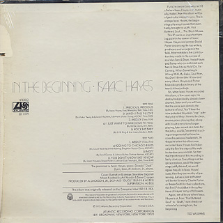 Isaac Hayes / In The Beginning back