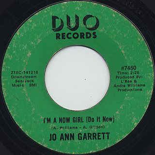 Jo Ann Garrett / I'm A Now Girl (Do It Now)