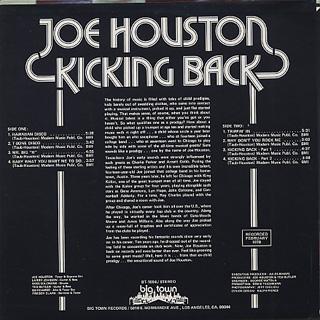 Joe Houston / Kicking Back back