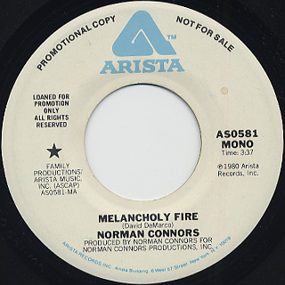 Norman Connors / Melancholy Fire back