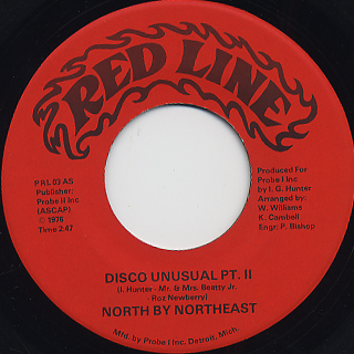 North By Northeast / Disco Unusual back