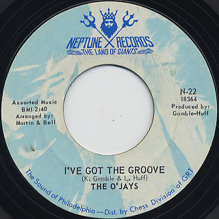 O'Jays / Deeper(In Love With You) back