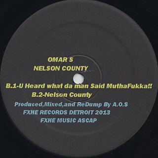 Omar S / Nelson County back