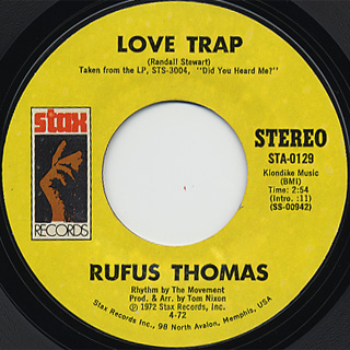 Rufus Thomas / Love Trap c/w 6-3-8