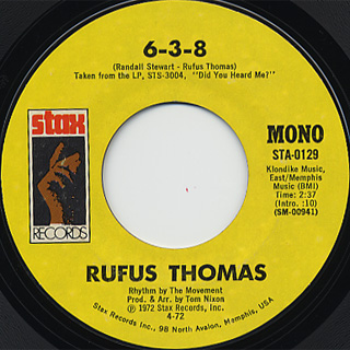 Rufus Thomas / Love Trap c/w 6-3-8 back