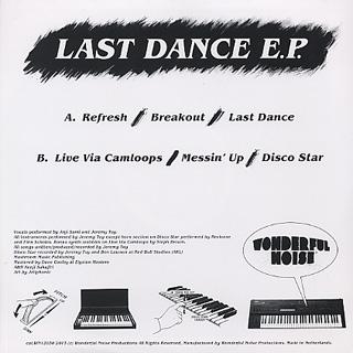 She's So Rad / Last Dance E.P. back