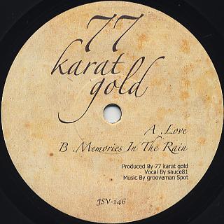 77 Karat Gold (grooveman Spot & sauce81) / Love back