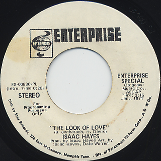 Isaac Hayes / The Look Of Love