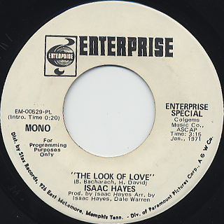 Isaac Hayes / The Look Of Love back