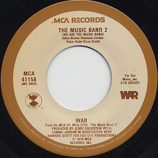 War / The Music Band 2 (We Are The Music Band) front