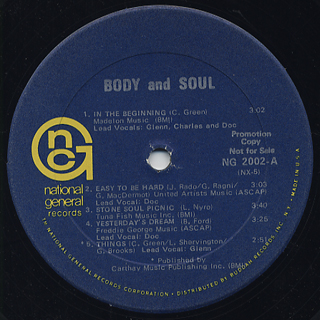 Body And Soul / S.T. label