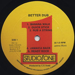 Dub Specialist / Better Dub from Studio One label