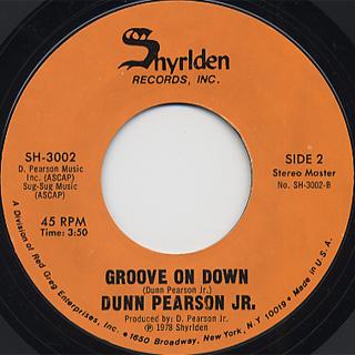 Dunn Pearson Jr. / Groove On Down back