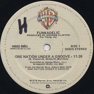 Funkadelic / One Nation Under A Groove c/w (Instrumental) back