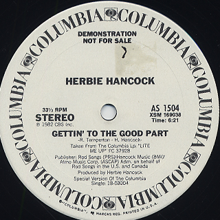 Herbie Hancock / Gettin' To The Good Part c/w The Fun Tracks front