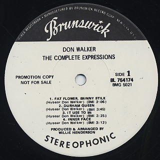 Hesear Don Walker / The Complete Expressions label