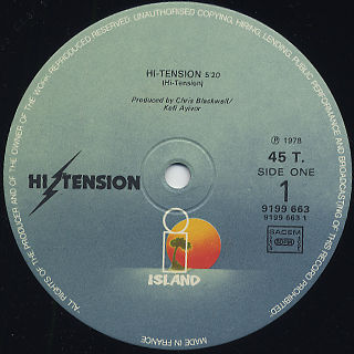 Hi-Tension / Hi-Tension c/w Girl I Betcha label