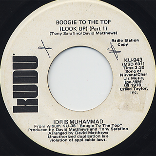 Idris Muhammad / Boogie To The Top (45) back