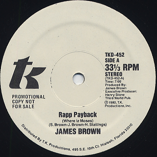 James Brown / Rapp Payback c/w Part II back