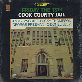 Jimmy McGriff / Concert Friday The 13th Cook Country Jail front