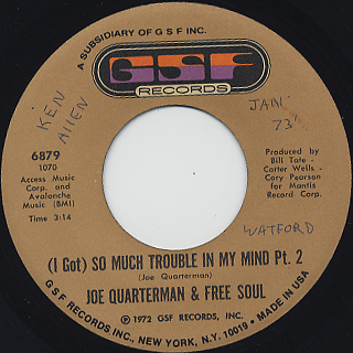 Joe Quarterman And Free Soul / (I Got) So Much Trouble In My Mind back