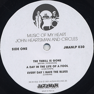 John Heartsman And Circles / Music Of My Heart label