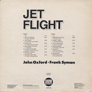 John Oxford / Frank Syman / Jet Flight back