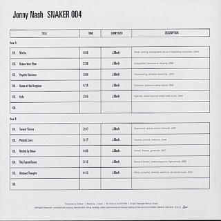 Jonny Nash / SNAKER004 back